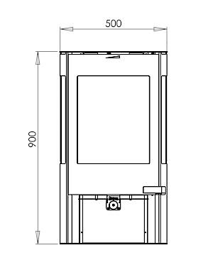 aduro 9 6 braskamin med integrerad handtag och sidorutor. Black Bedroom Furniture Sets. Home Design Ideas